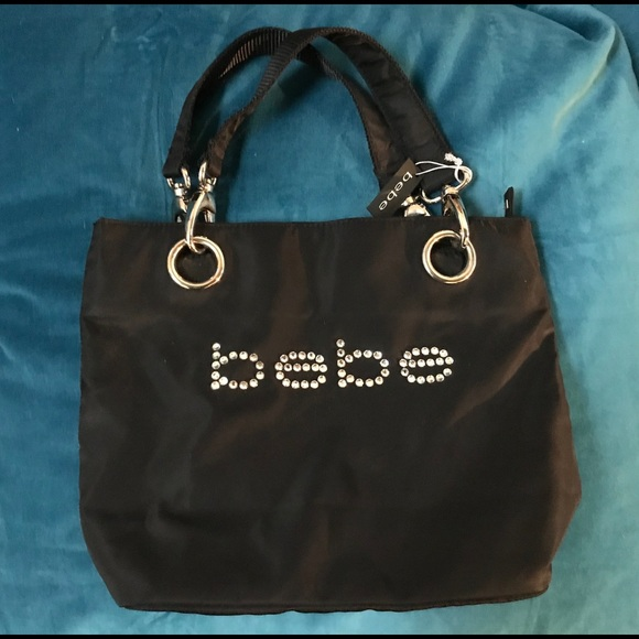 BeBe Small Tote with Rhinestones - NWT 446c05999c9a5